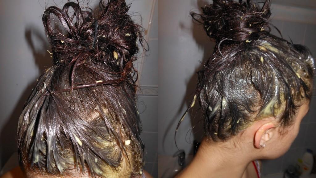 Elsev lhuile pour les cheveux de la photo jusquà et après